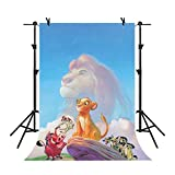 MME Backdrop 5x7ft Blue Sky Background Lion King Cartoon Photography Photo Video Studio Props GYMM318