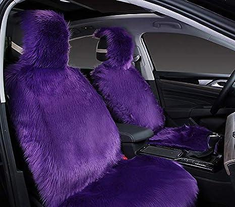 gb Ultra Premium Long Wool Hooded Genuine Australian A Grade Sheepskin 2pcs Front Seat Covers Pink