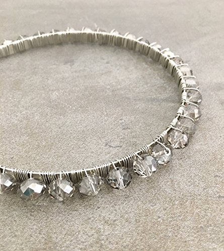Silver Glass Crystal Headband (Dance Costumes For Pageants)