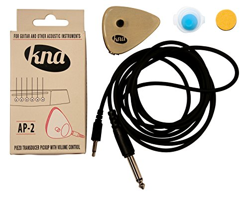 KNA AP-2 Portable Piezo Pickup with Volume Control for Guitar and Other Acoustic Instruments