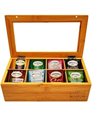 Twinings Tea Bags Sampler Assortment Box - 50 COUNT - Perfect Variety Pack in Bamboo Gift Box - Gift for Family, Friends, Coworkers - English Breakfast, English Afternoon, Green Tea, Earl Grey