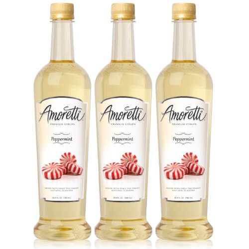 (Amoretti Premium Peppermint Syrup 750ml 3 Pack)