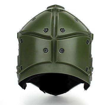 Reputedc Nuevo Casco táctico para Montar al Aire Libre, máscara uno, Casco
