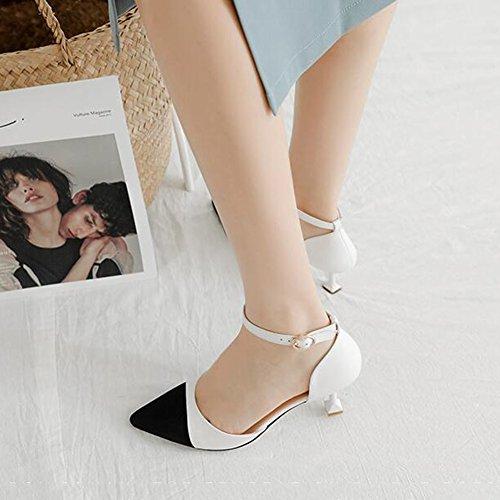 Sandals CJC Faux Nubuck Materail Casual With Plus Size Available (Color : 1, Size : EU38/UK5.5) 1