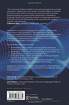 Assessment in Second Language Pronunciation: Okim Kang