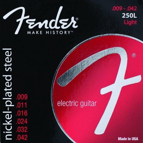 Super 250's Electric Guitar - Fender 250L NPS Light 9-42 Electric Guitar Strings 5-PACK