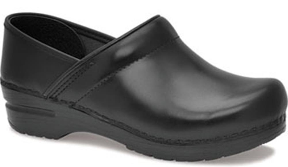 Professional Stapled Clog By Dansko Unisex Nursing Shoe Black Cabrio by Dansko