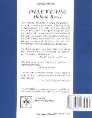 Inkle Weaving: Helene Bress: 9780962054310: Amazon com: Books