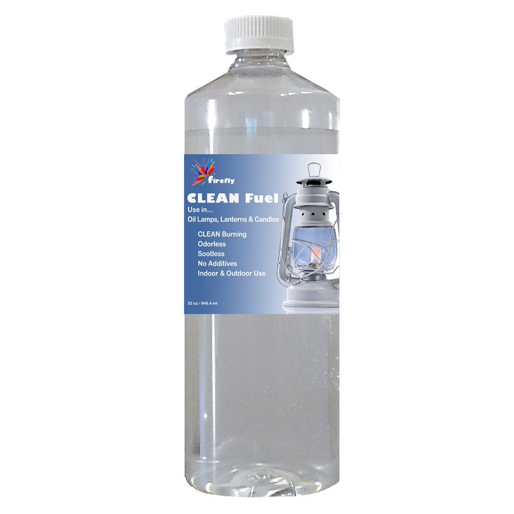 Amazon.com: Firefly CLEAN Fuel Lamp Oil - 32 oz. - Smokeless ... for Paraffin Fuel  111bof