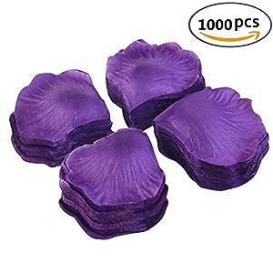 Romote 1000Pcs Purple Silk Rose Petals Bouquet Artificial Wedding Party Aisle Decor Tabl Scatters Confett 32