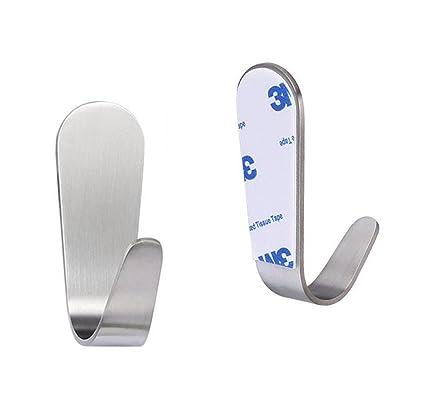 6 ganchos autoadhesivos 3 kg como Toalla Gancho toallero para puerta gancho Soporte de pared ganchos