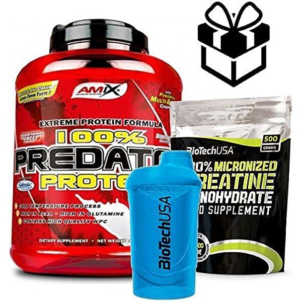 AMIX Predator Protein - 2 Kg Fresa + Creatine + Mezclador ...