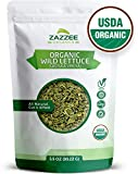 Organic Wild Lettuce Tea | 3.5 Ounces | 171 Servings | Certified USDA Organic | Cut, Sifted and 100% Pure | Potent Lactuca Virosa Variety | Vegan | All-Natural Pain Relief and Sleep Aid