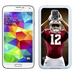 New NCAA Southeastern Conference SEC Football Texas A&M Aggies 05 Logo Cell Phone Hardshell Cover Case for Galaxy S5 S 5 SV S V i9600 White