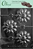 Cybrtrayd F097 Large Daisy Lolly Chocolate Candy Mold with Exclusive Cybrtrayd Copyrighted Chocolate Molding Instructions