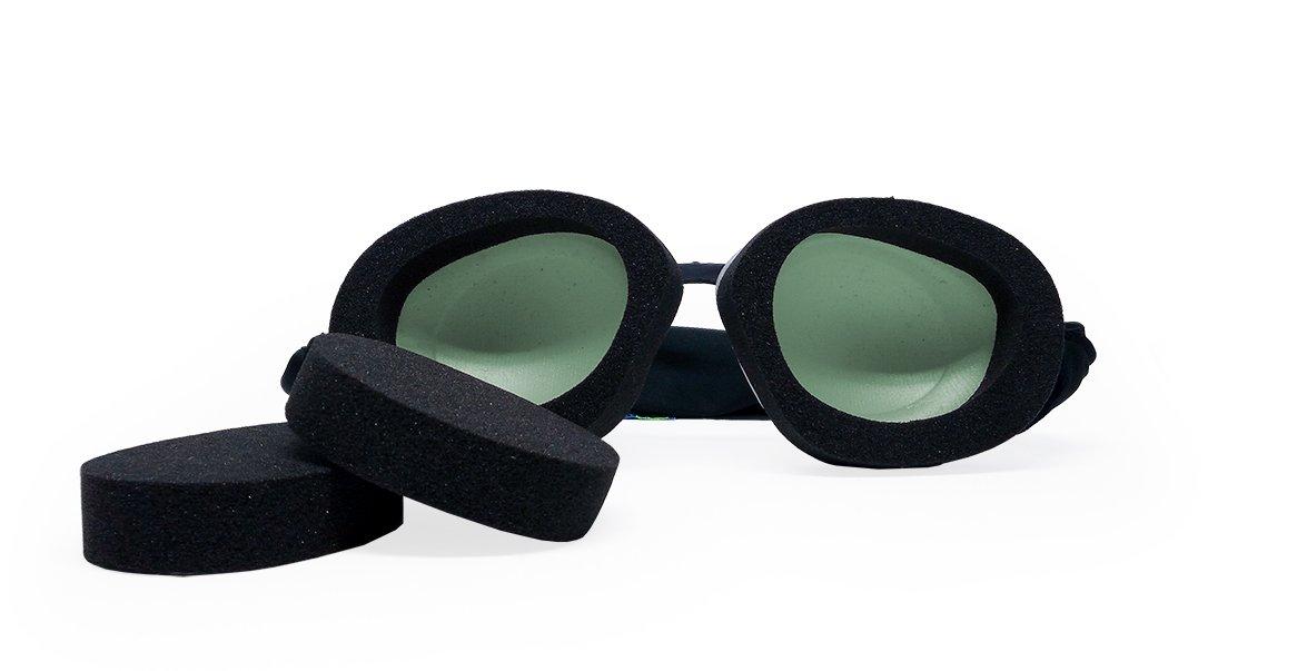 Tranquileyes Travel and Sleep Kit Sleep Mask for Nighttime Dry Eye Relief (Sage)