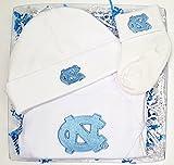 North Carolina UNC Tar Heels Boxed 3 Piece Baby Gift Set