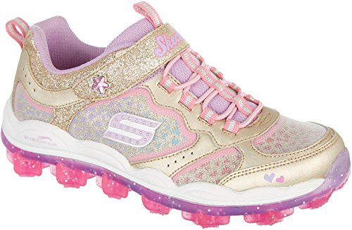 SKECHERS KIDS Girl's Skech Air - Stardust 81295L (Little Kid/Big Kid) Gold/Multi Shoe