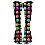 Emoji Emoticon Funny Faces Custom Unisex Knee High All Sport Holiday Socks One Size