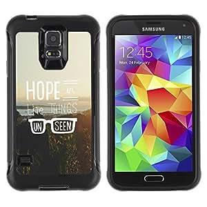"""Pulsar iFace Series Tpu silicona Carcasa Funda Case para Samsung Galaxy S5 V , Hipster Vintage motivación Sun"""""""