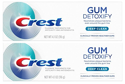 Crest Gum Detoxify Toothpaste, Deep Clean, 4.1 oz (116g) - Pack of 2