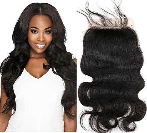 Sent Hair Silk Base Lace Closure Body Wave Human Hair with Baby Hair Free Part Closure 4x4 Bleached Knots Hair Pieces 20 inch -  Qingdao Sent Hair Products Co.,Ltd., BW-SB-F20
