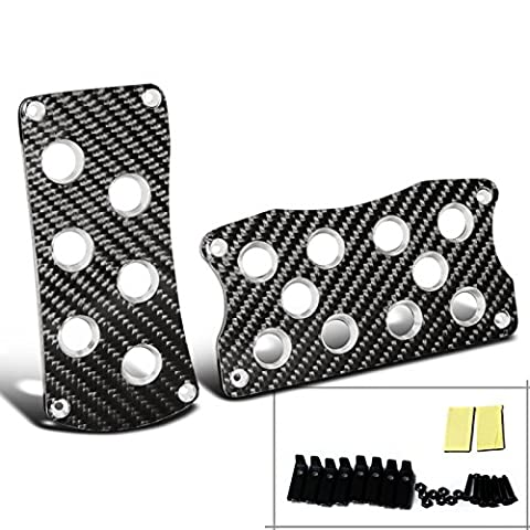 Spec-D Tuning PDL-BCF-A-SD Jdm Real Carbon Fiber Wrap Cf Aluminum Auto Trans At Racing Pedal (Acura Tsx 2005 Grill)