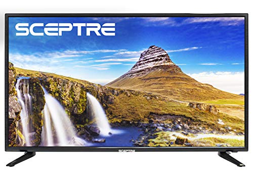 Sceptre X415BV-FSR 40 Slim LED FHD 1080p TV Flat Screen HDMI MHL High Definition and Widescreen Monitor Display ATSC/QAM 3 x HDMI Ports, Metal Black (2019)