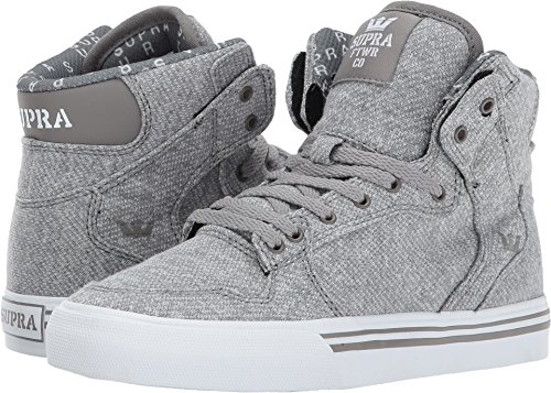 Supra Skytop S18091, Sneaker uomo Grey French Terry Textile/White