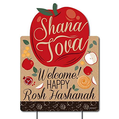 Big Dot of Happiness Rosh Hashanah - Party Decorations - Jewish New Year Welcome Yard Sign by Big Dot of Happiness