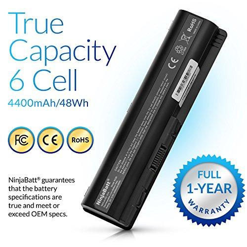 NinjaBatt Laptop Battery for HP 484172-001 485041-001 498482-001 484170-001 HSTNN-LB72 HSTNN-UB72 HSTNN-CB72 484171-001 HSTNN-Q34C – High Performance [6 Cells/4400mAh/48wh] by NinjaBatt (Image #3)