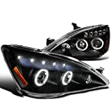 Spec-D Tuning 2LHP-ACD03JM-TM Honda Accord Halo Led Projector Headlights Black Pair