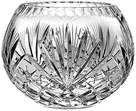5 inches D 5 D 5 D, in the Plaza Collection 5 D 5 D, 5 inches D Barski European Hand Cut Plaza Crystal Rose Bowl