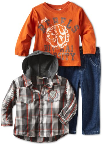 Little Rebels Little Boys' 3 Piece Rebels Pant Set