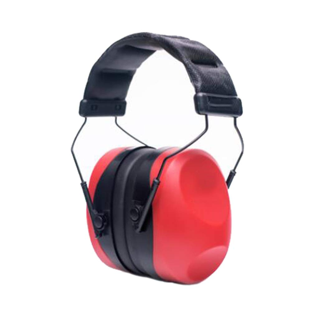 LW DDT Noise-Proof Earmuffs, Ear Defenders Shooting Noise-reducing Headphones Hearing Protection Learning Sleep for Hunting Welding Construction Machinery Garden (Color : Red) by LW DDT
