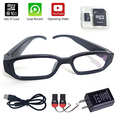 Glasses Camera 16GB Included Updated Version MidZoo HD Eyewear Mini Portable DVR Eyeglasses Camera Video Recorder - Eye Camera Glasses