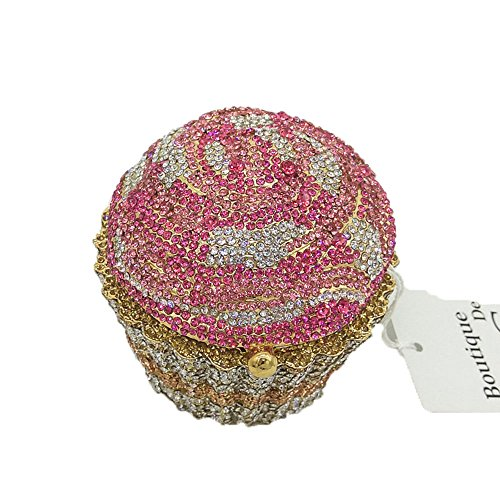 Cupcake Crystal Clutch Evening Bags Wedding Party Bridal Diamond Minaudiere Handbag Clutches Purse (2) by Boutique De FGG (Image #5)