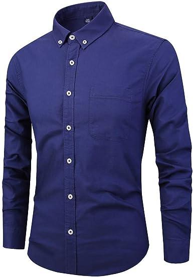 CAOQAO Camisas Hombre Negocio Manga Larga botón Cobertura Cuello Pintura Casual M-XXXXL: Amazon.es: Ropa y accesorios