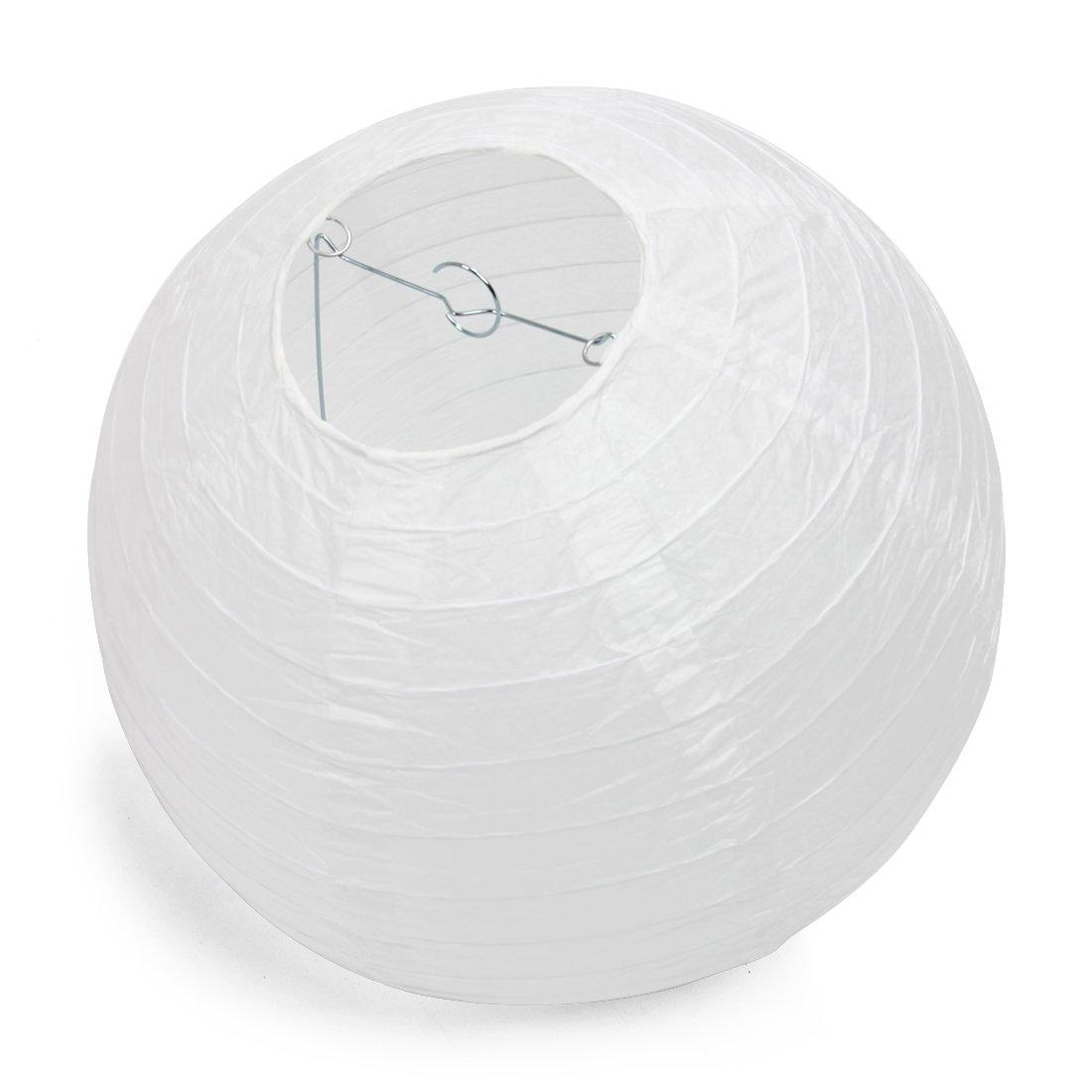 SODIAL(R) Lanterne en Papier mariage Parti Diner annuel DIY Decoration 30cm blanc Assortiment New