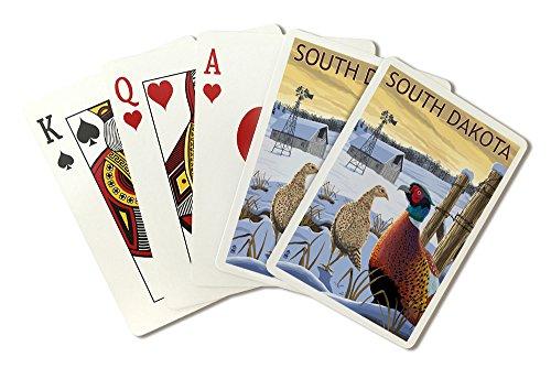 South Dakota - Pheasants (Playing Card Deck - 52 Card Poker Size with Jokers)