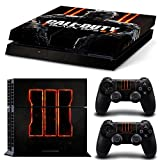 Cheap Ps4 Playstation 4 Console Skin Decal Sticker Black OPS 3 COD + 2 Controller Skins Set