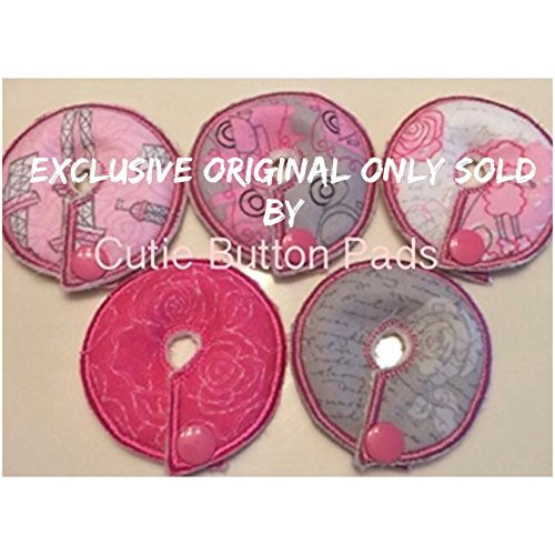 Cutie Button Pads G/j Tube Pad 5 Pack - Gastrostomy Button