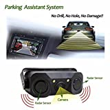 Lolipp 170 Degree Viewing Angle HD Waterproof Car Rear View Camera with 2 Radar Parking Sensor
