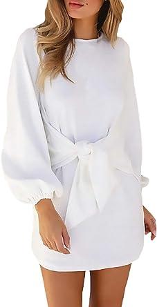 Amazon.es: vestidos camiseros Blanco