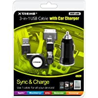 Xtreme 88212 Durable USB Car Charger - Retail Packaging - Black