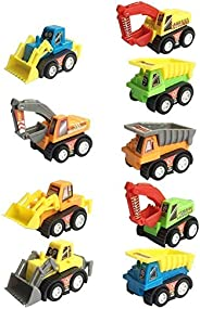 Construction Vehicles Fun Pull Back Car Toy for Boys Toddler Bulldozer Excavator Dumper Truck for Children Tod