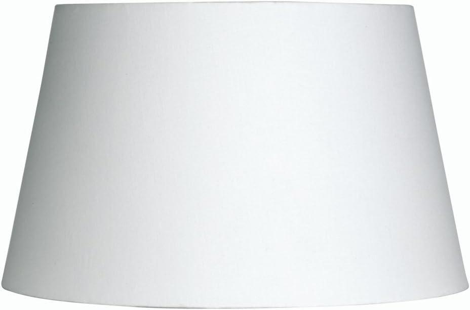 Oaks Lighting Cotton Drum Shade 8 Inch White Amazon Co Uk Lighting