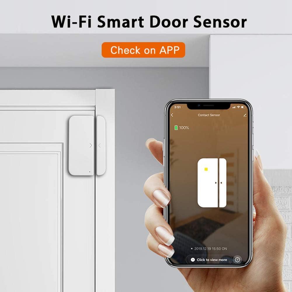 Extaum Door Alarm Window Sensor Detector WiFi Smart Home Security Tuya SmartLife App Control Compatible  Alexa Google Assistant IFTTT