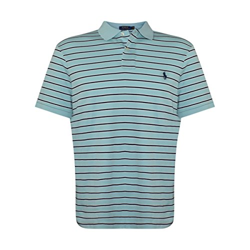Polo Ralph Lauren Men's Classic Fit Pony Logo Striped Polo Shirt (X-Large, (Classic Striped Striped Polo Shirt)