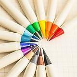Set Colorful Calligraphy Pen Soft Brush Marker Watercolor Marker Pen DIY Graffiti Manga Drawing Marker